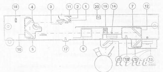 夏普sf2030 2040复印机的光学部件