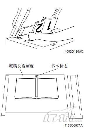 当放置打开的书本或杂志>   1,将书打开放置,使它的顶部边缘位于主机