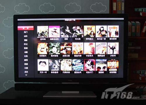 网络电影下载界面-TCL L46S9FE 应用 液晶电视 应用 最薄处仅3mm ...