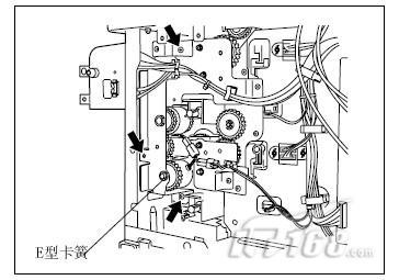 东芝复合机传输离合器的拆卸更换