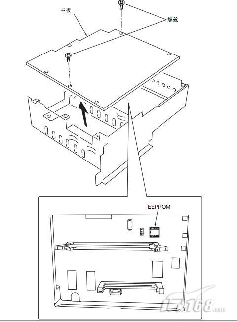 震旦ad-158复印机拆除主要的电路板