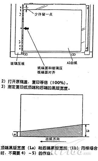 夏普ar-200复印机副扫描方向歪斜调整
