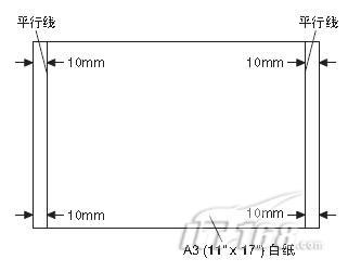 更换或移动反光镜组件轨道时.   复印件呈如下图状态时.