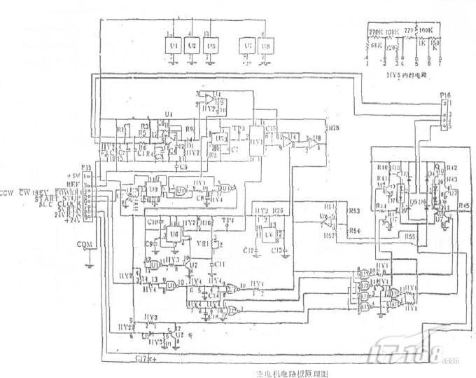 施乐复印机主电机电路板原理图