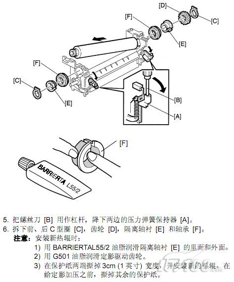 理光a292 293定影的热敏电阻和熔断丝