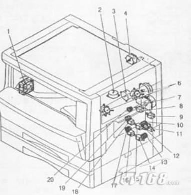 夏普ar1818复印机电机,电磁阀,离合器