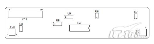 这些信号经过含有运算放大器(u6 和 u7)等放大电路被放大后,通过扫描