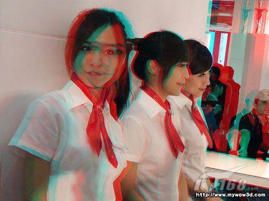 用3d眼镜看车模美女是啥感觉