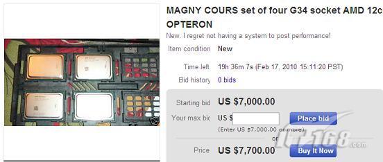 网店惊现AMD十二核处理器 起价7000美元