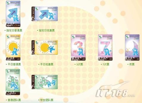 上海世博会门票(图片来源中国2010年上海世博会官方网站)-IT168每图片