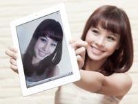 白色iPad2拍照场景